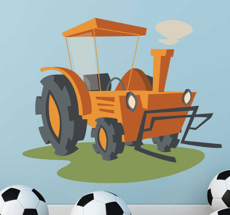 Adesivo bambini illustrazione trattore