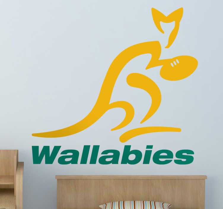 Adhesivo emblema Wallabies Australia