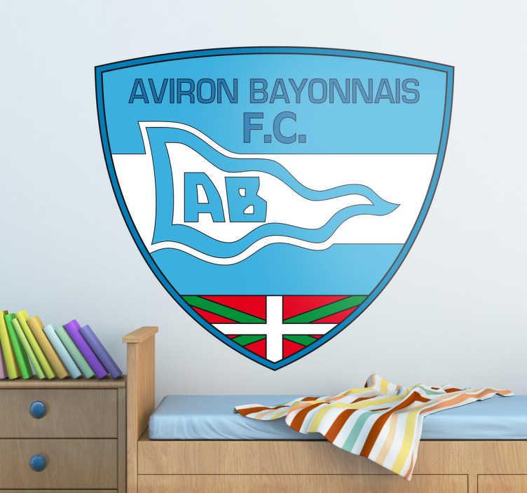 TenVinilo. Pegatina escudo Aviron Bayonnais. Emblema característico en adhesivo de este exitoso club vasco de Bayona que juega en la liga francesa.