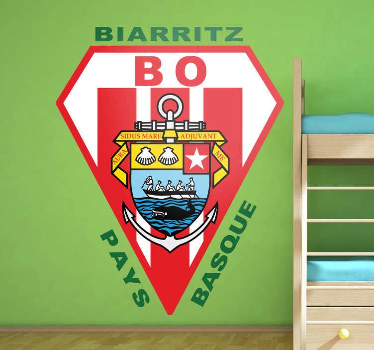 TenVinilo. Vinilo decorativo Biarritz Olympique. Adhesivo con el escudo de este famoso equipo francés de rugby afincado en Euskadi.