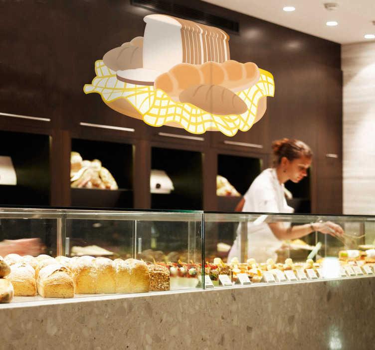 TenStickers. Sticker pain. Une collection de baguette, pain de mie et autre boule de painsur sticker pour personnaliser votre cuisine ou décorer votre boulangerie.