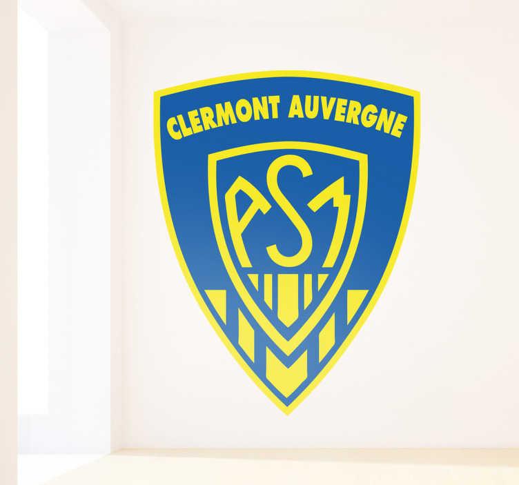 TenVinilo. Vinilo decorativo Clermont Auvergne. Pegatina con el escudo característico de este club francés de rugby creado en 1911 por Marcel Michelin.