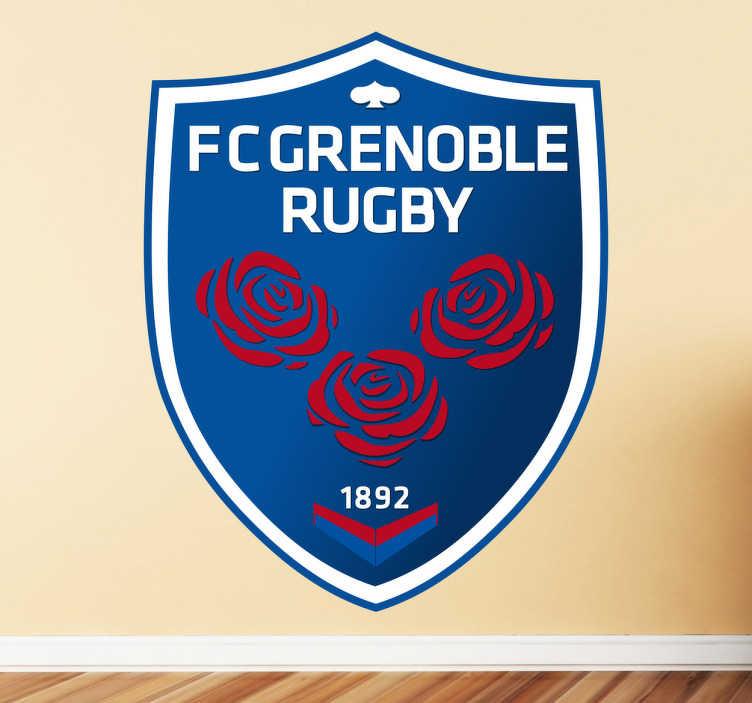 TenVinilo. Vinilo decorativo Grenoble Rugby. Emblema adhesivo de este histórico club alpino de la liga francesa de rugby fundado en 1892.
