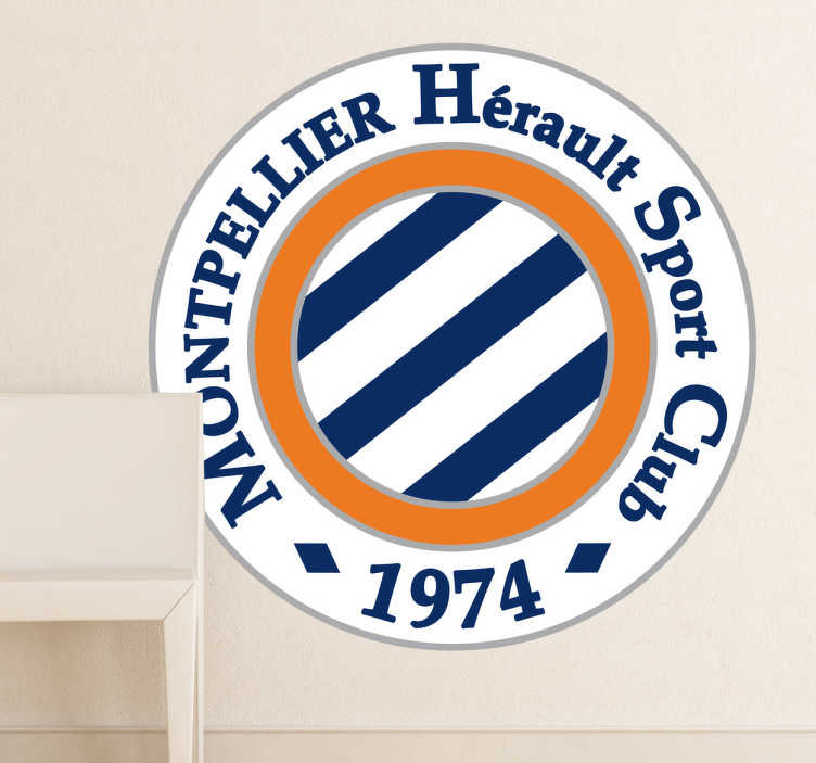 TenStickers. Sticker logo Montpellier rugby. Stickers représentant le logo de l'équipe de rugby Montpellier Hérault Sport Club.