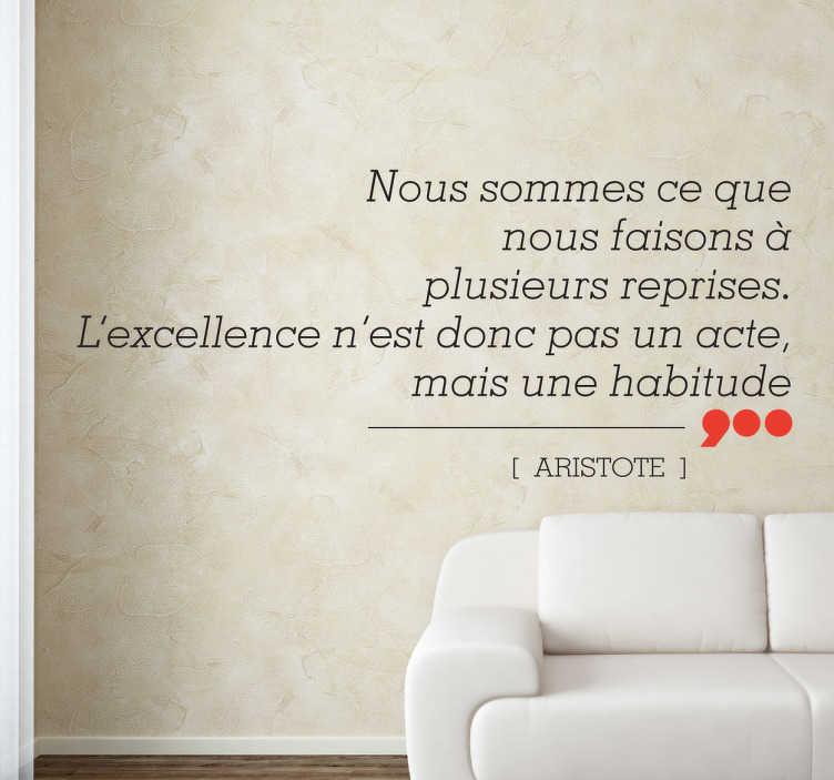 Sticker excellence acte aristote