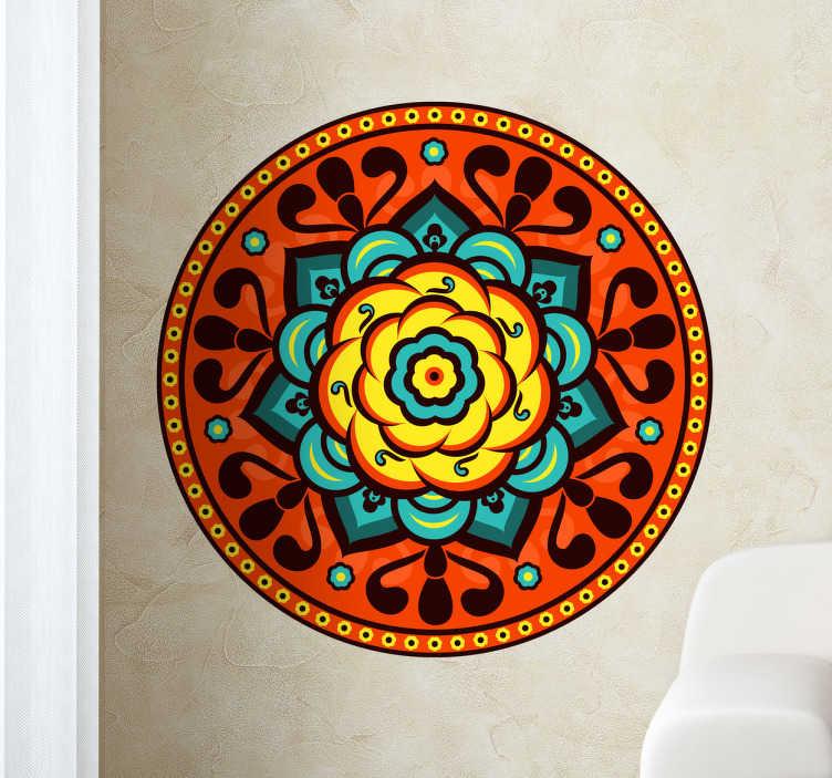 Sticker decorativo logo floreale