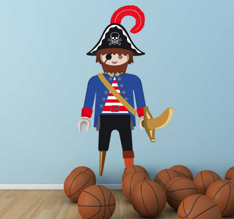 Vinilo infantil playmobil pirata