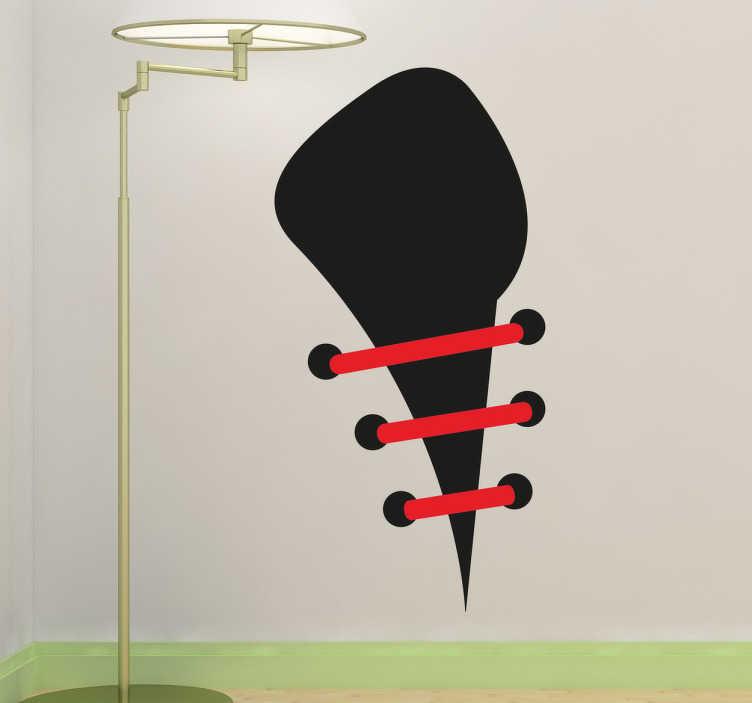 TenStickers. Naklejka dekoracyjna sznurówki buta. Naklejka dekoracyjna, która przedstawia sznurówki buta. Obrazek jest dostępny w wielu wymiarach.