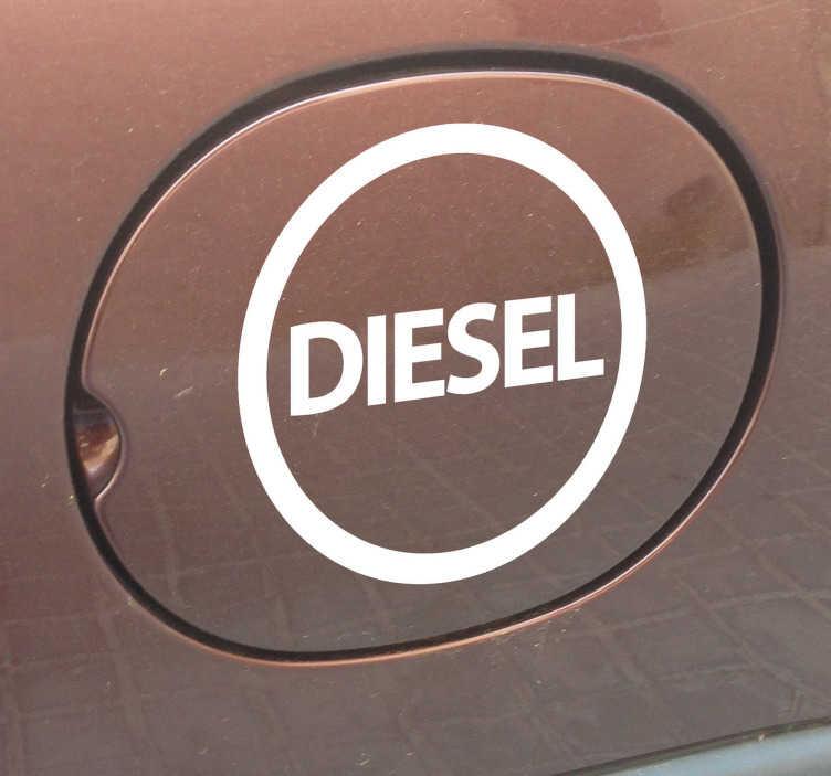 TENSTICKERS. ディーゼルカーステッカー. 車のステッカー - ディーゼルビニールステッカーを燃料タンクに設置して、使用する燃料の種類を教えてください。