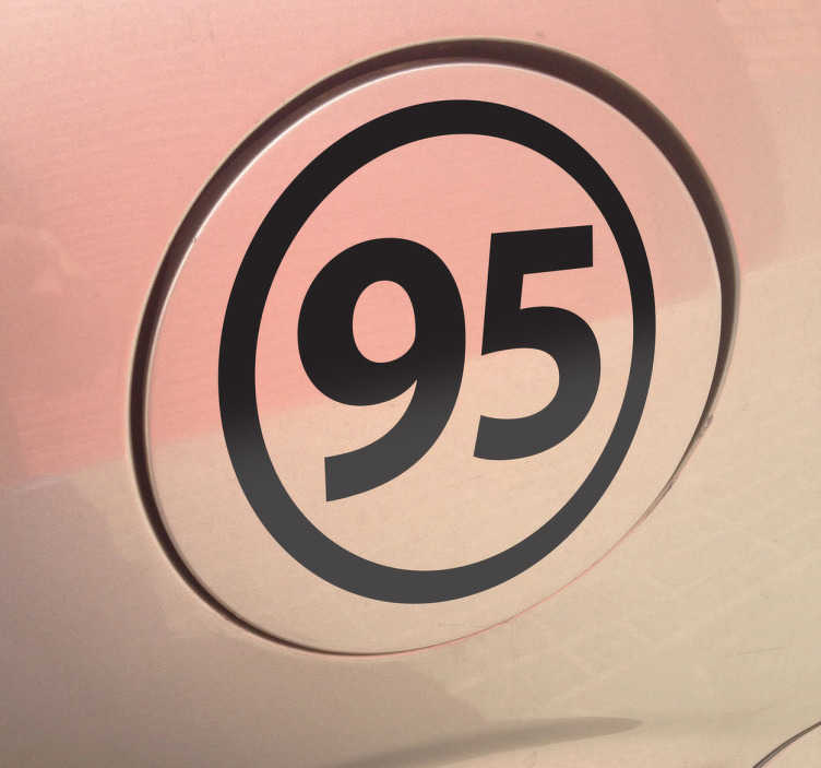 TenStickers. Unleaded 95 Vehicle Sticker. Place this simple but original sticker in the your gas cap cover to remind yourself of the type of fuel you use for your car.
