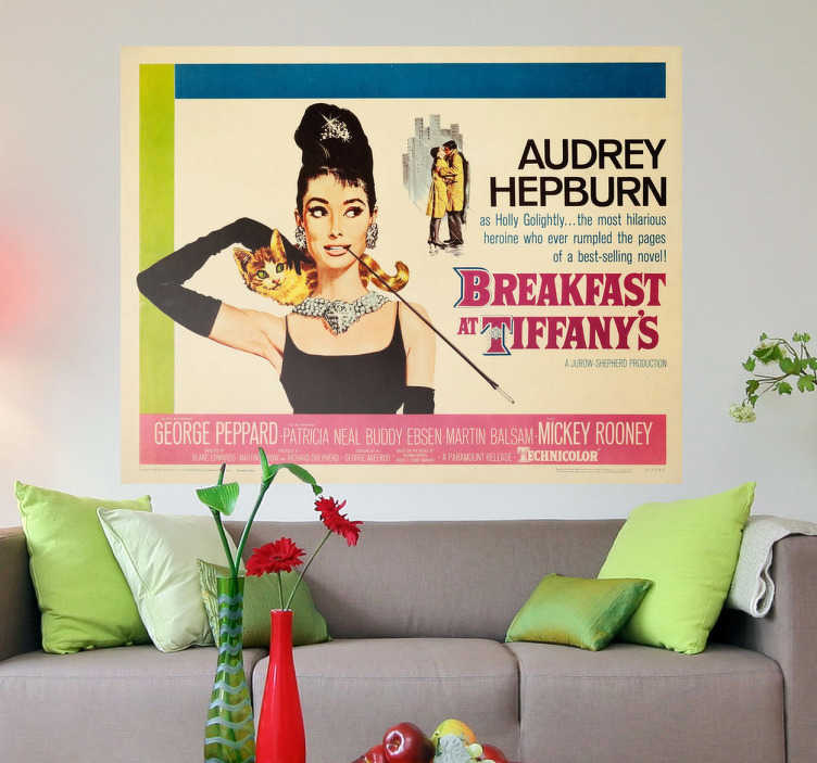 Naklejka plakat Breakfast at Tiffanys