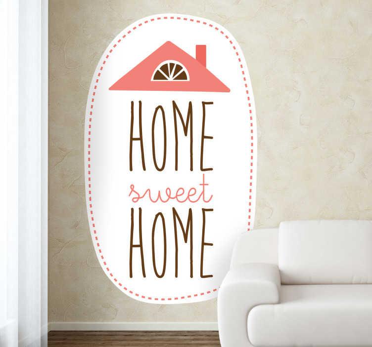 TenVinilo. Vinilo decorativo dulce hogar. Elegante y original adhesivo con este famoso dicho internacional.