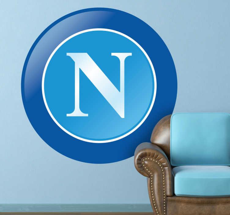 TenVinilo. Adhesivo decorativo emblema Nápoles. Si eres tifosi de este club del sur de Italia donde militó Maradona hazte con una pegatina muy especial.