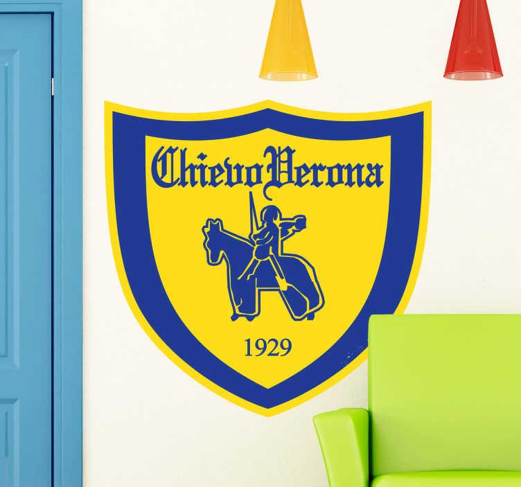 TenStickers. Adesivo murale logo Chievo Verona. Sticker decorativo raffigurante l'emblema storico della nota squadra di calcio veneta con i suoi colori caratteristici.