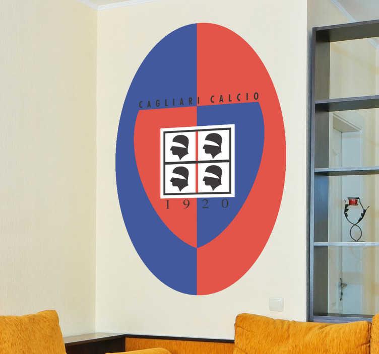 Adesivo murale logo Cagliari Calcio