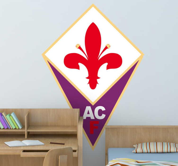 Adesivo murale logo Fiorentina ACF