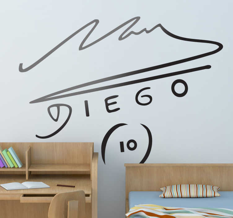 maradona unterschrift aufkleber tenstickers. Black Bedroom Furniture Sets. Home Design Ideas