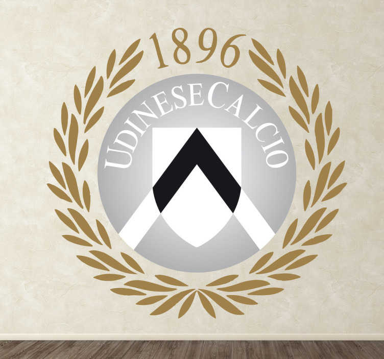 TenVinilo. Vinilo decorativo Udinese calcio. Emblema adhesivo con esta fantástica squadra italiana de calcio fundado en 1896.