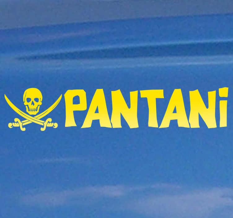 Adesivo murale pirata Pantani
