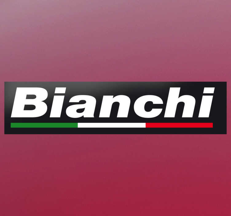 TenVinilo. Vinilo logotipo marca Bianchi. Pegatina a todo color con el logotipo de este emblemática casa de bicicletas italiana.