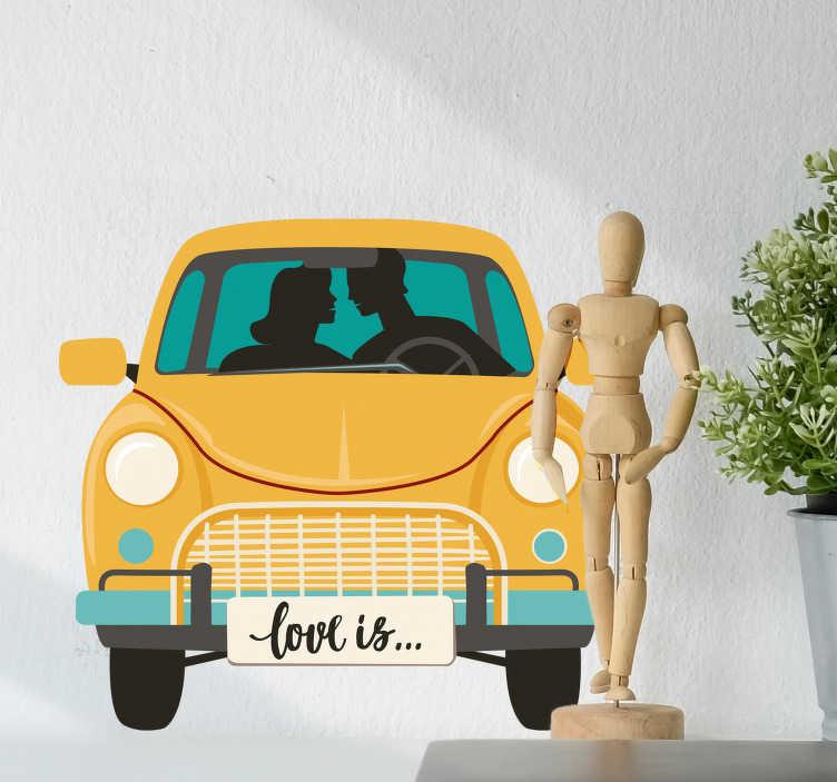 Vinilo decorativo adolescentes enamorados tenvinilo for Vinilos decorativos habitacion juvenil