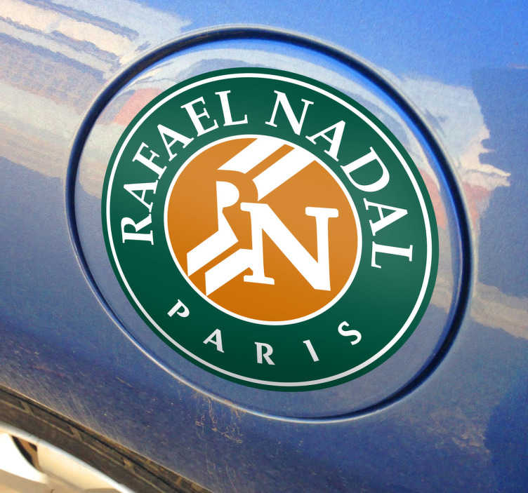 TenStickers. Naklejka Rafael Nadal Paryż. Naklejka przedstawiająca logo słynnego hiszpańskiego tenisisty Rafaela Nadala.