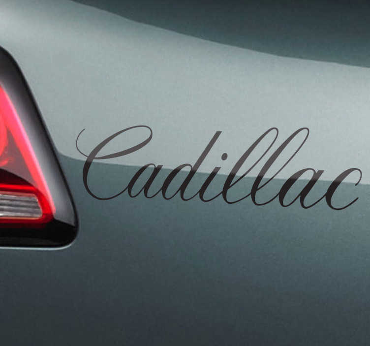 Sticker decorativo marca Cadillac