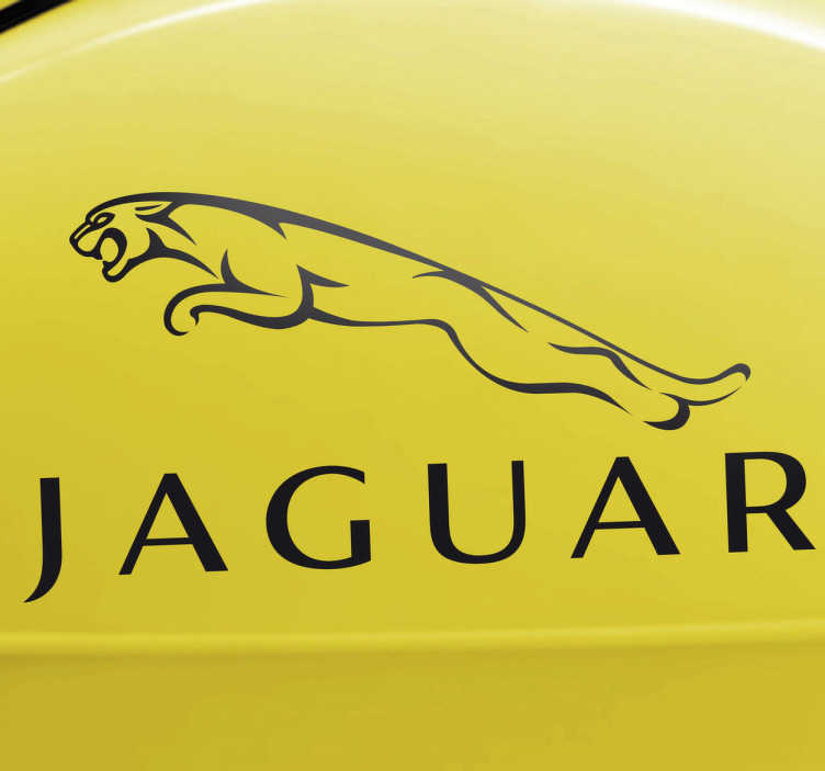 TenStickers. Jaguar Logo Decorative Sticker. Decorative emblem sticker of this famous car brand founded in 1992.