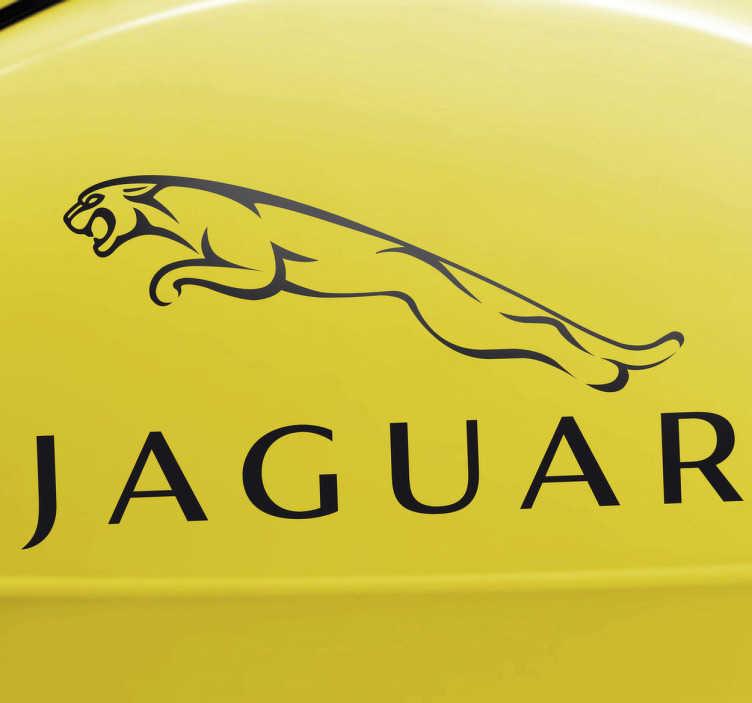 TenStickers. Sticker logo Jaguar. Deze sticker omtrent het logo van het bekende Britse luxe automerk Jaguar. Ideaal voor grote fans van het deze bolides.