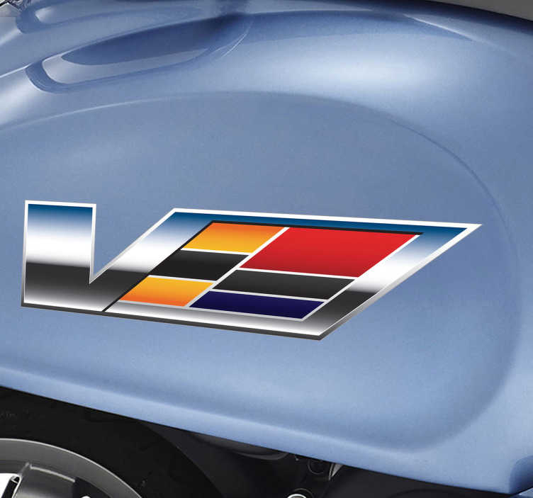 Vinilo logotipo Cadillac V series