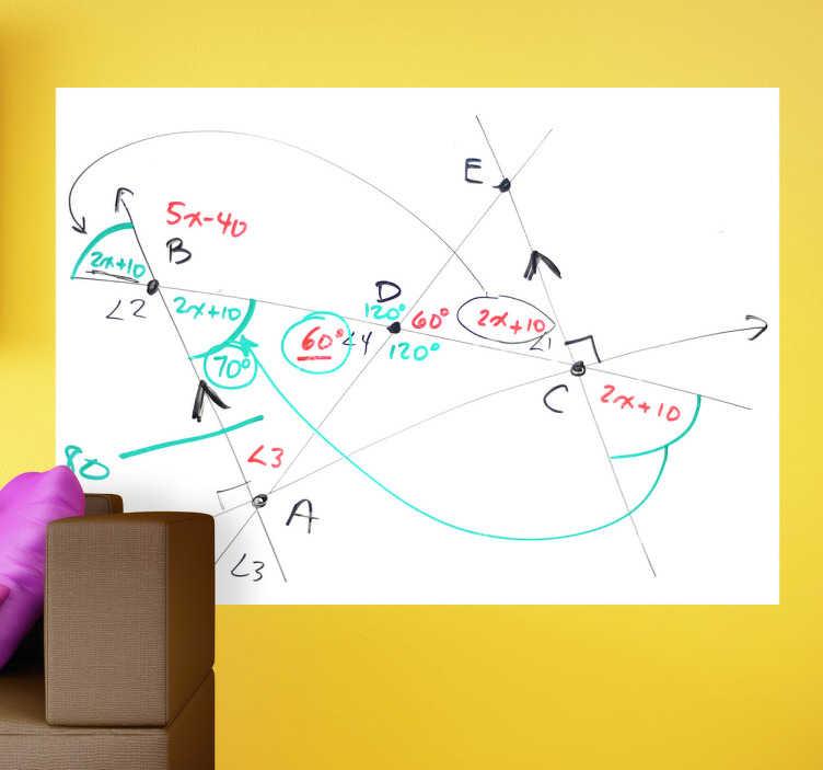 Muursticker whiteboard rechthoek