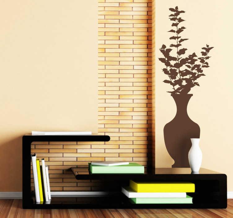 Naklejka na ścianę klasyczny wazon