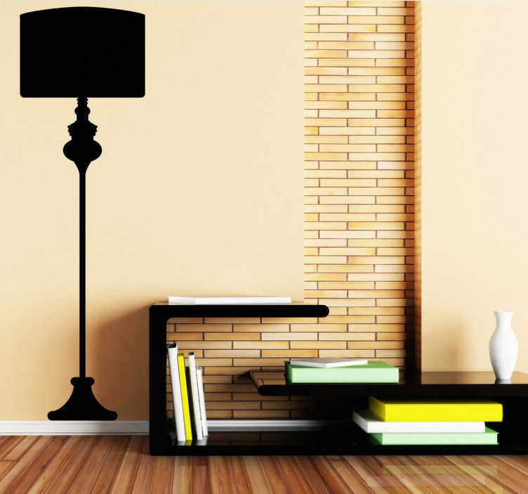 Floor Lamp Wall Sticker Tenstickers