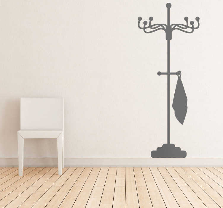 TenStickers. Coat Rack Theme Wall Sticker. Room Stickers - TenStickers´home decals. Coat rack wall sticker for your home. Available in various colours, ideal for decorating different spaces.