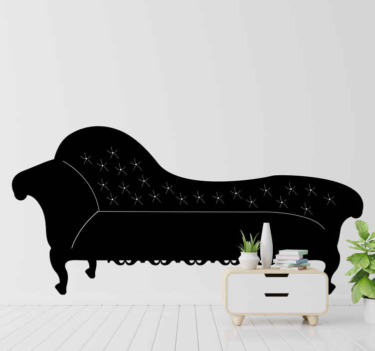 TenStickers. Sticker klassieke ligzetel. Een leuke decoratie sticker van een klassieke zetel. Bepaal zelf de kleur en grootte voor deze mooie muursticker.