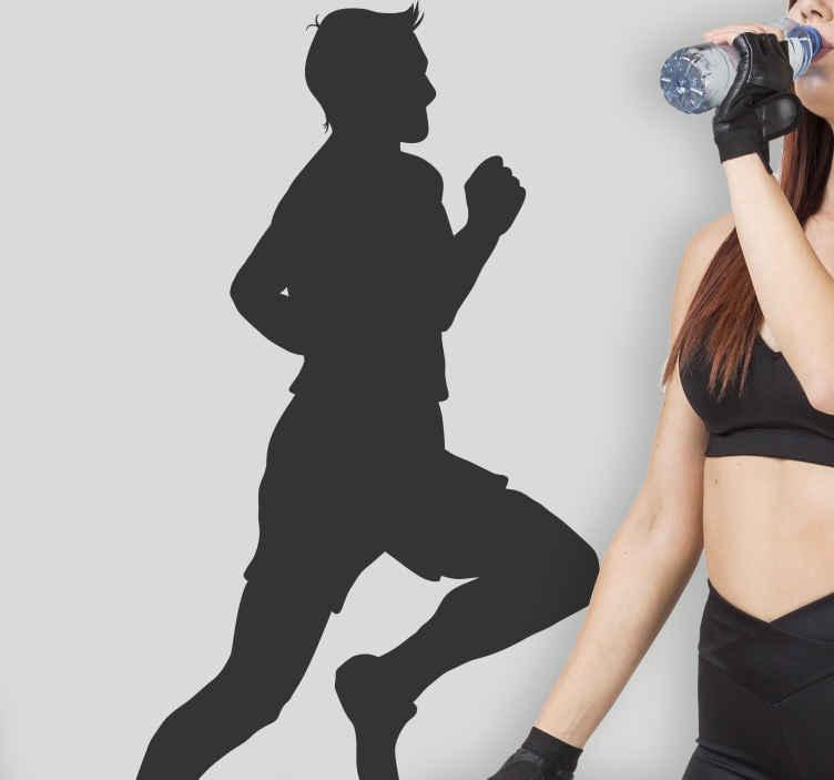 TenVinilo. Vinilo silueta corredor olímpico. Adhesivo pensado para todos aquellos aficionados al mundo del atletismo.
