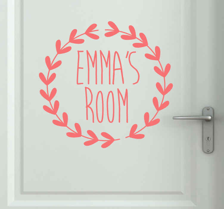 TenStickers. Personalised Room Kids Sticker. You can customise this fantastic kids sticker with your child's name. Easy to apply and remove. Available in various colours and sizes.