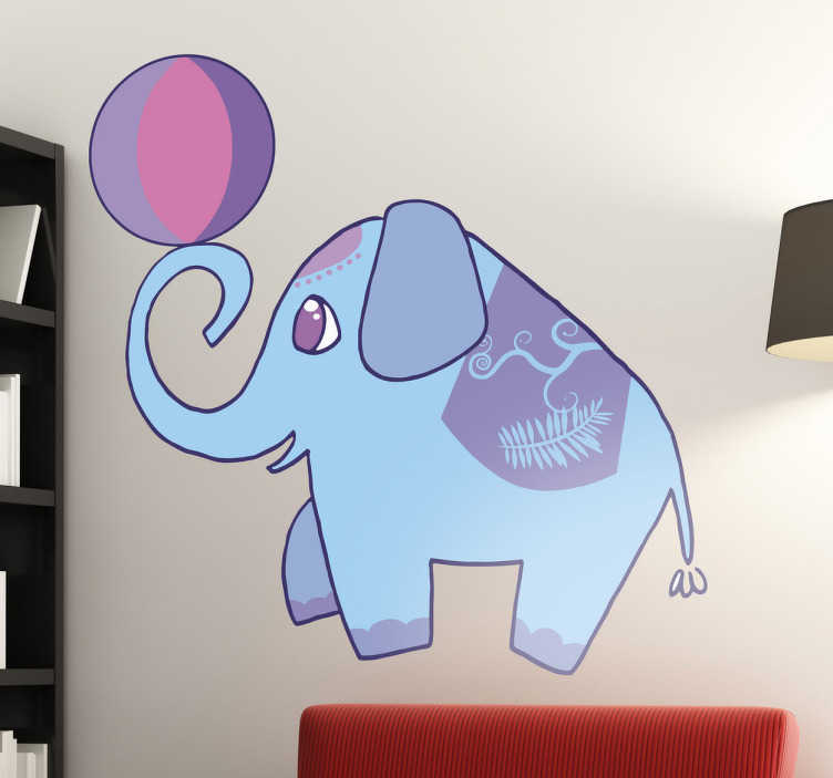 TenStickers. Kids Circus Elephant Wall Sticker. A fun and creative design from our collection of elephant wall stickers to decorate the bedroom of the little ones at home!