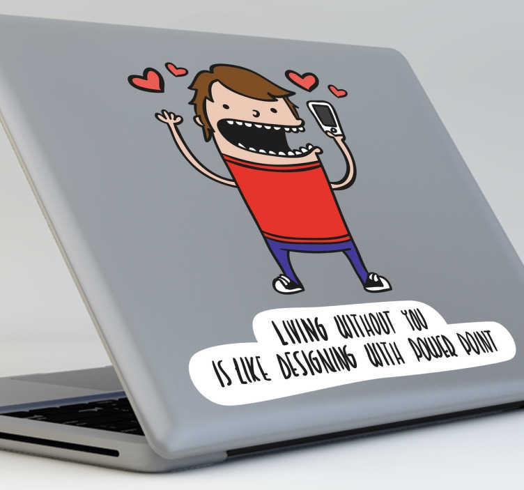 Naklejka na laptopa Power Point