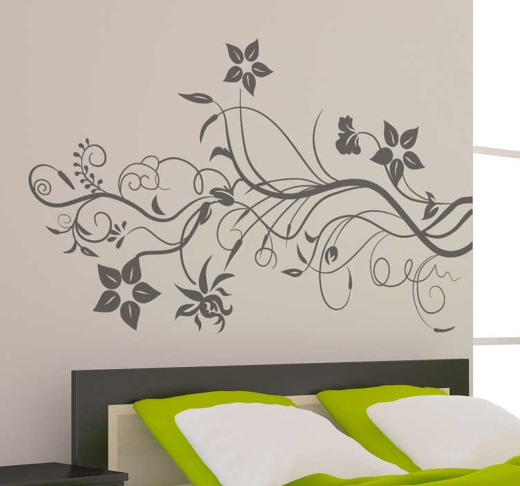 TenStickers. Ivy Floral Wall Decal. Floral wall sticker to give an elegant and baroque tone to your home or business. Beautiful abstract flower wall sticker perfect for providing a nice look to the otherwise empty walls of your living room, bedroom or dining room.