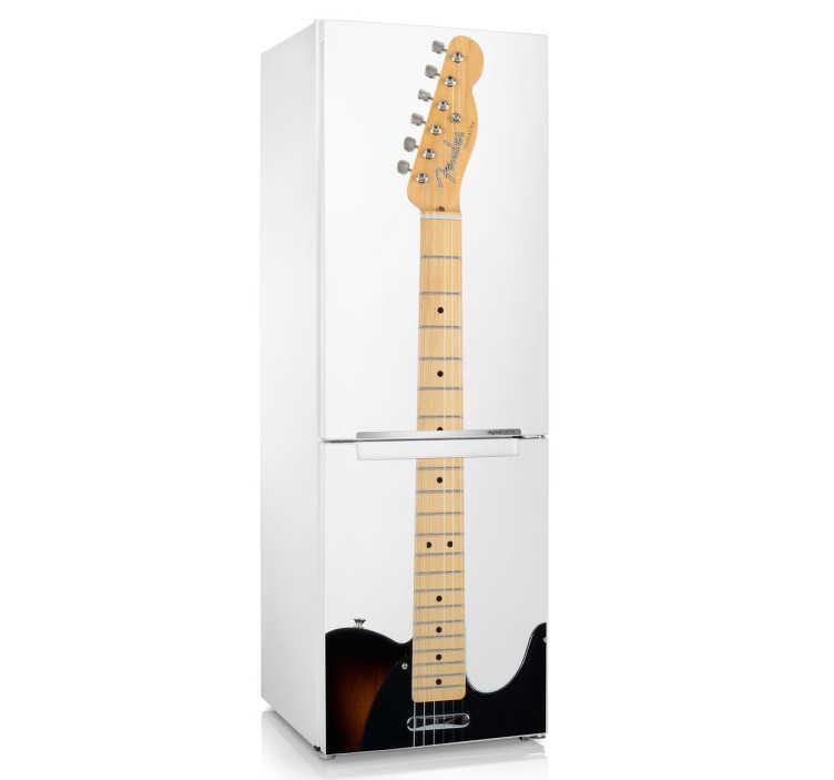 Sticker decorativo frigo chitarra elettrica