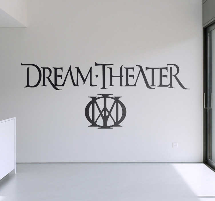 TenStickers. Dream Theater Logo Sticker. Musik Sticker - Sticker der Rockband Dream Theater welche im Jahr 1985 gegründet wurde. Ein Must Have für jeden Fan.