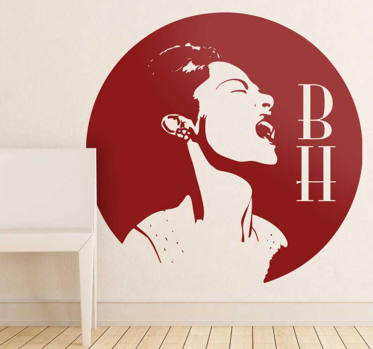 Sticker dessin Billie Holliday