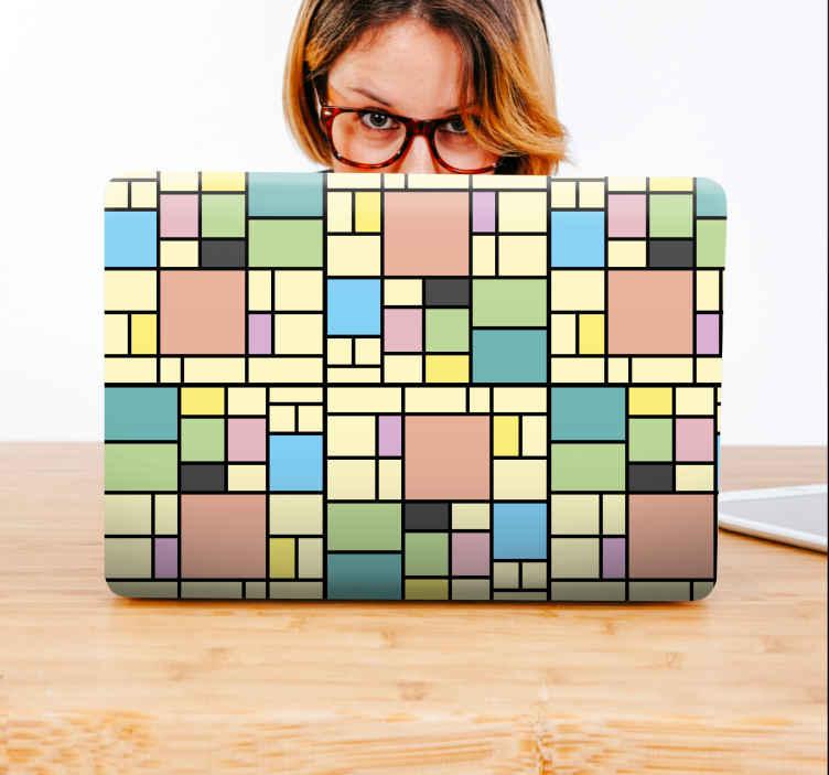Image of Adesivo pc Blocchi di colore patchwork
