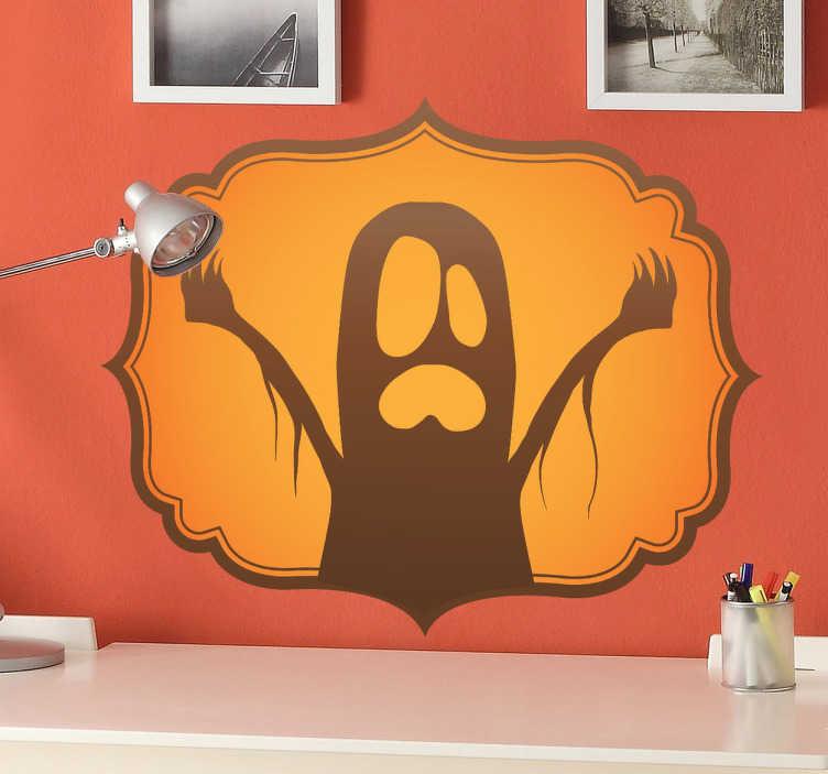 Sticker decorativo emblema fantasma