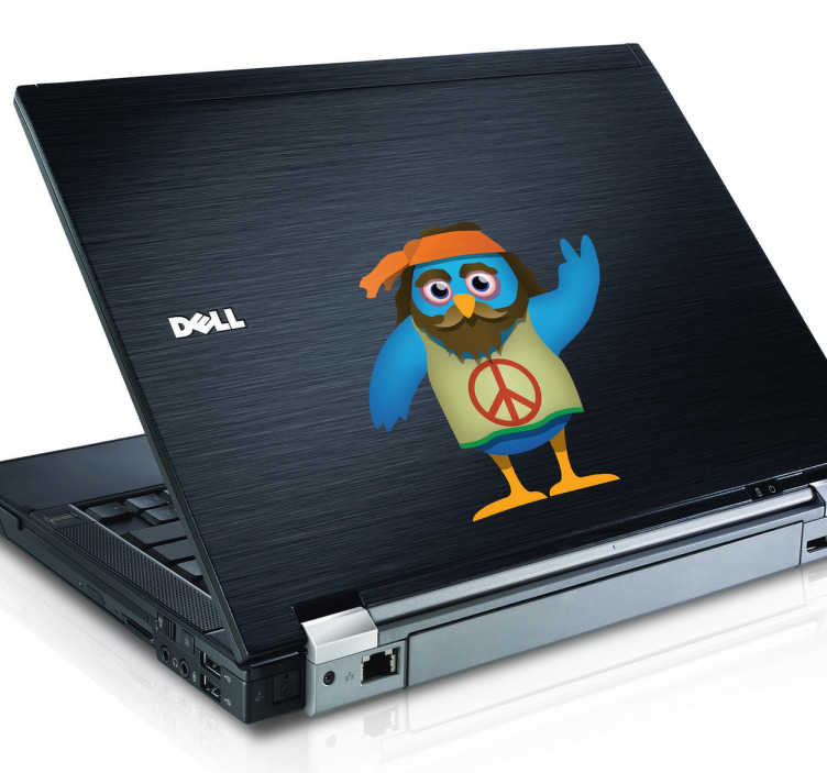 Naklejka na laptopa Sowa Hipis