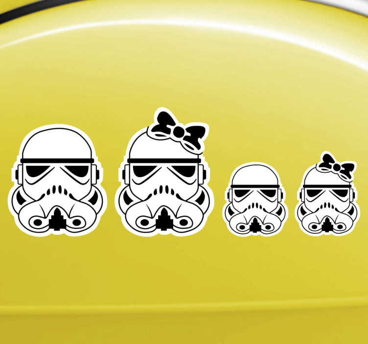 Sticker famille star wars tenstickers for Autocollant mural star wars