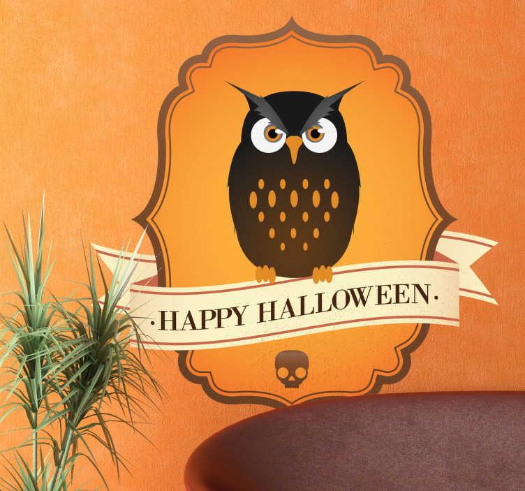 Naklejka dekoracyjna halloweenowa sowa