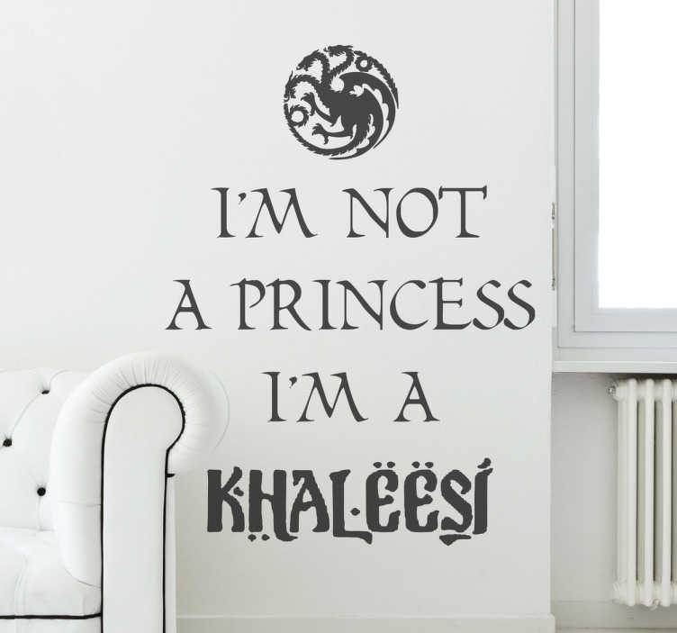 Sticker texte princess khaleesi