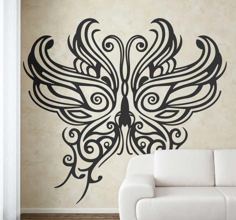 Stencil muro maschera tribale farfalla - TenStickers